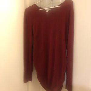 Motherhood Maternity sweater, burgundy